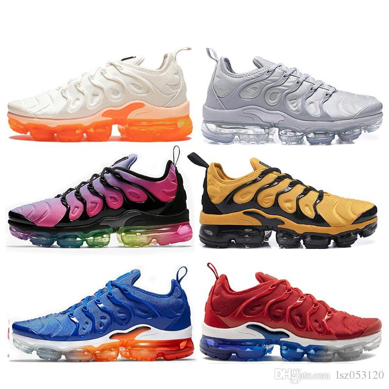 the latest 18786 89278 Compre NIKE AIR VAPORMAX PLUS Barato Maxes VM TN Plus Shoes USA Grape RED  In Metallic White Orange Triple Black Silver Para Mujer Zapatillas  Deportivas Para ...