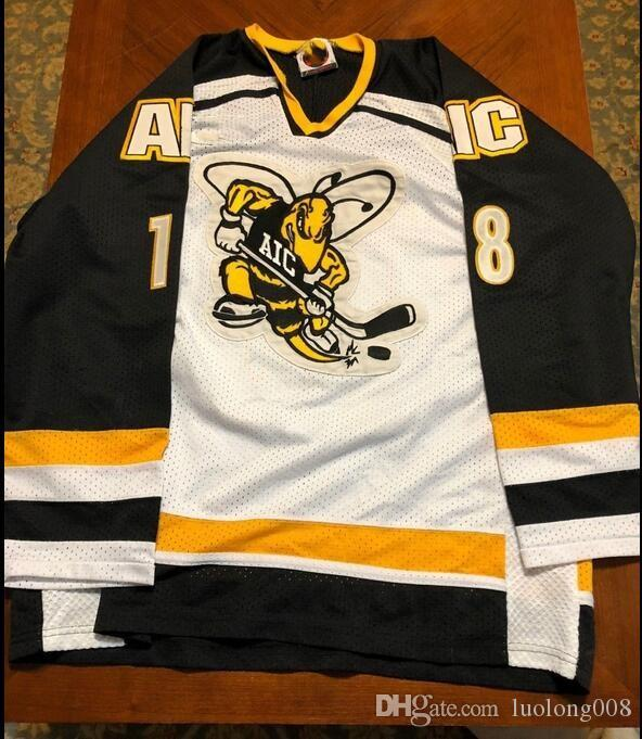 2019 Vintage AIC Road Game Worn Hockey Jersey Embroidery Stitched Customize  Any Number And Name Jerseys From Luolong008 4e414e22bf3