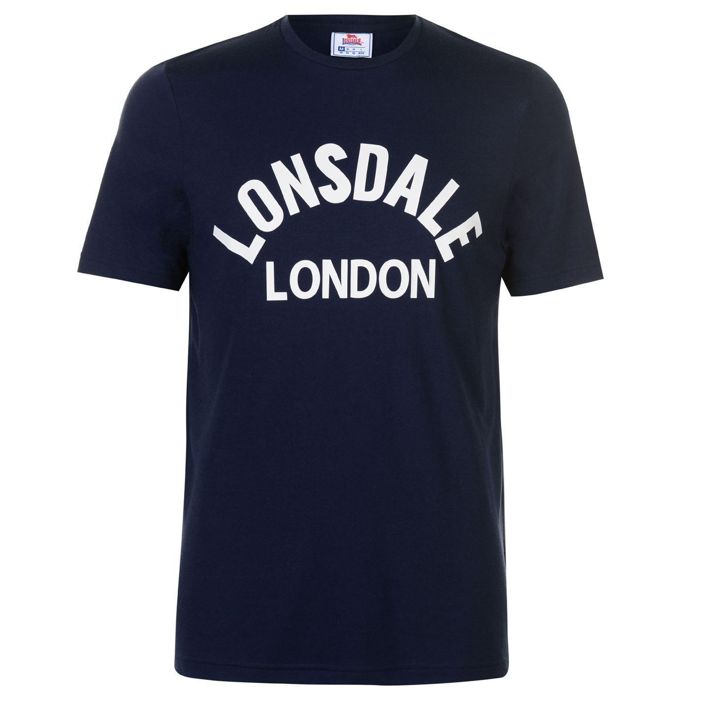 Uomo Arch London Shirt Lonsdale Acquista T Blu Scuro CxBrdoe