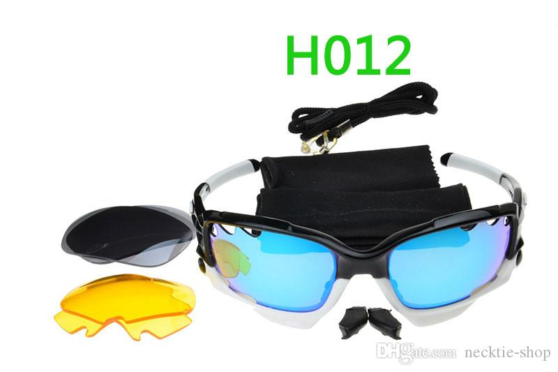 Alta qualità 3 Lens Occhiali da sole UV400 di marca Mens delle donne degli occhiali da sole di sport vetri della bicicletta Eyewear Occhiali da sole Sport Lens