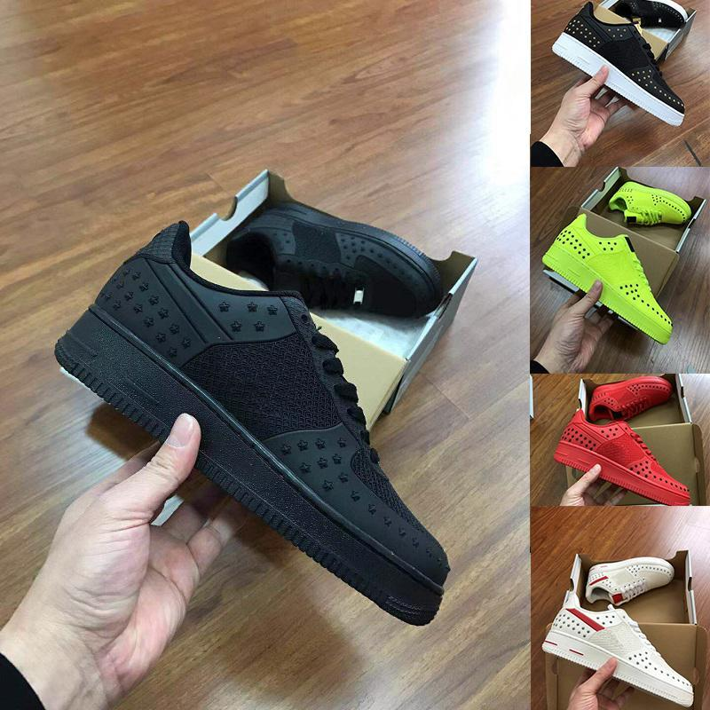Forces AF Men Low Cut 1 Shoes All White Black Dunk Sports Shoes rivet Classic AF Fly High Knit Skateboard Sneakers SIZE 40-47