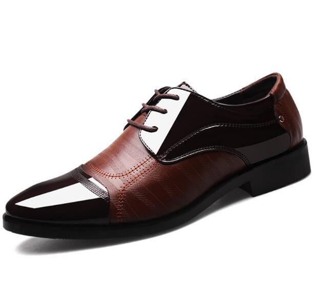 d54883d1 Compre Moda De Gama Alta Hombres Oficina Zapatos De Carrera Dedos En ...