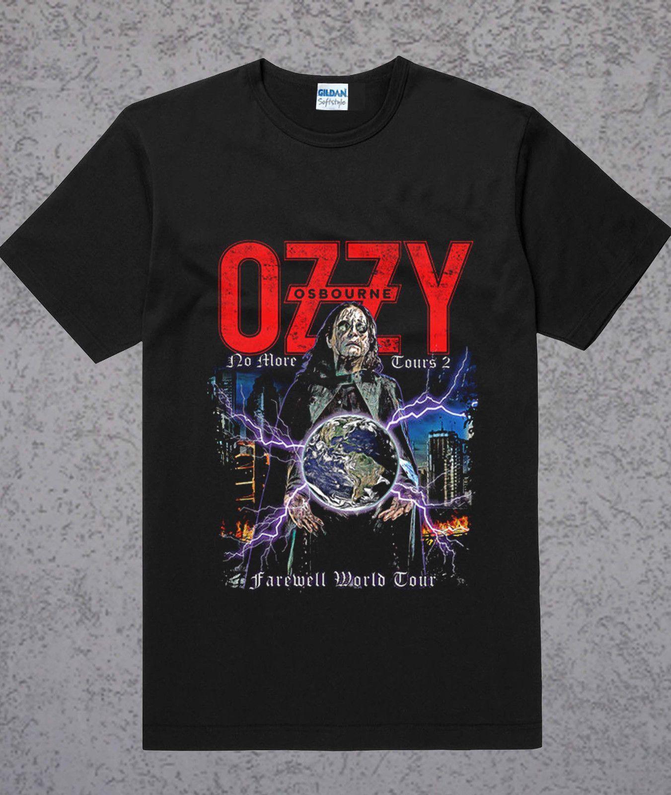 f84cdd4c607 Ozzy Osbourne T Shirt Black Sabbath 2018 No More Tour T Shirt Size S To 3XL  Printing Tee Shirts Cool Funny T Shirts From Tshirtsdesign49