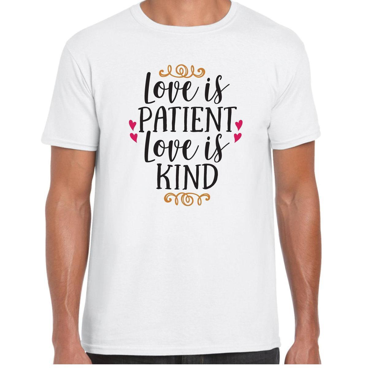 a23821c27 Love Is Patient Love Is Kind MensT Shirt Valentine Birthday Gift Long  Sleeve Tee Shirts Design Your Own T Shirts From Jie77, $14.67| DHgate.Com