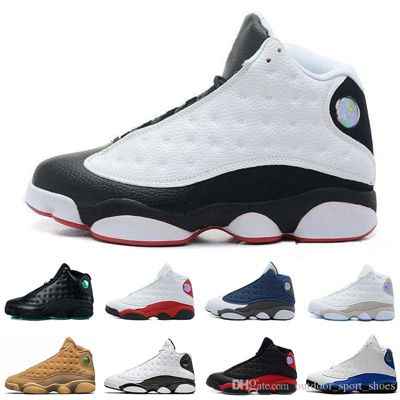 4aba70a78ef5 Cheap 13 13s Black Cat Mens Basketball Shoes GS Hyper 3M History of Flight  Bred Wheat Chicago Love Respect Mens Sports Designer Sneakers