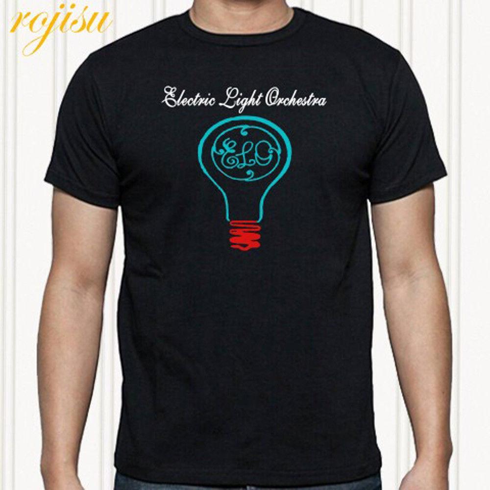 a1612e361d Compre Electric Light Orchestra ELO Band Logo Camiseta Negra Para Hombre