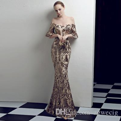 2019 Elegant Sequin Maxi Dress Women Evening Party Summer Dress Club ... 0c2d5328691c