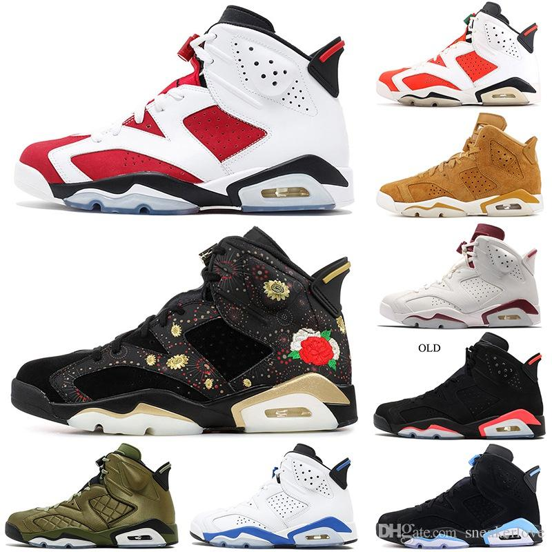 2f28104dbb95ea 2019 Designer Basketball Shoes 6s Golden Harvest All Star Black Cat Carmine  6 CNY Gatorade BRED Oreo Mens Athletic Sports Blue Sneakers 7 12 Discount  Shoes ...