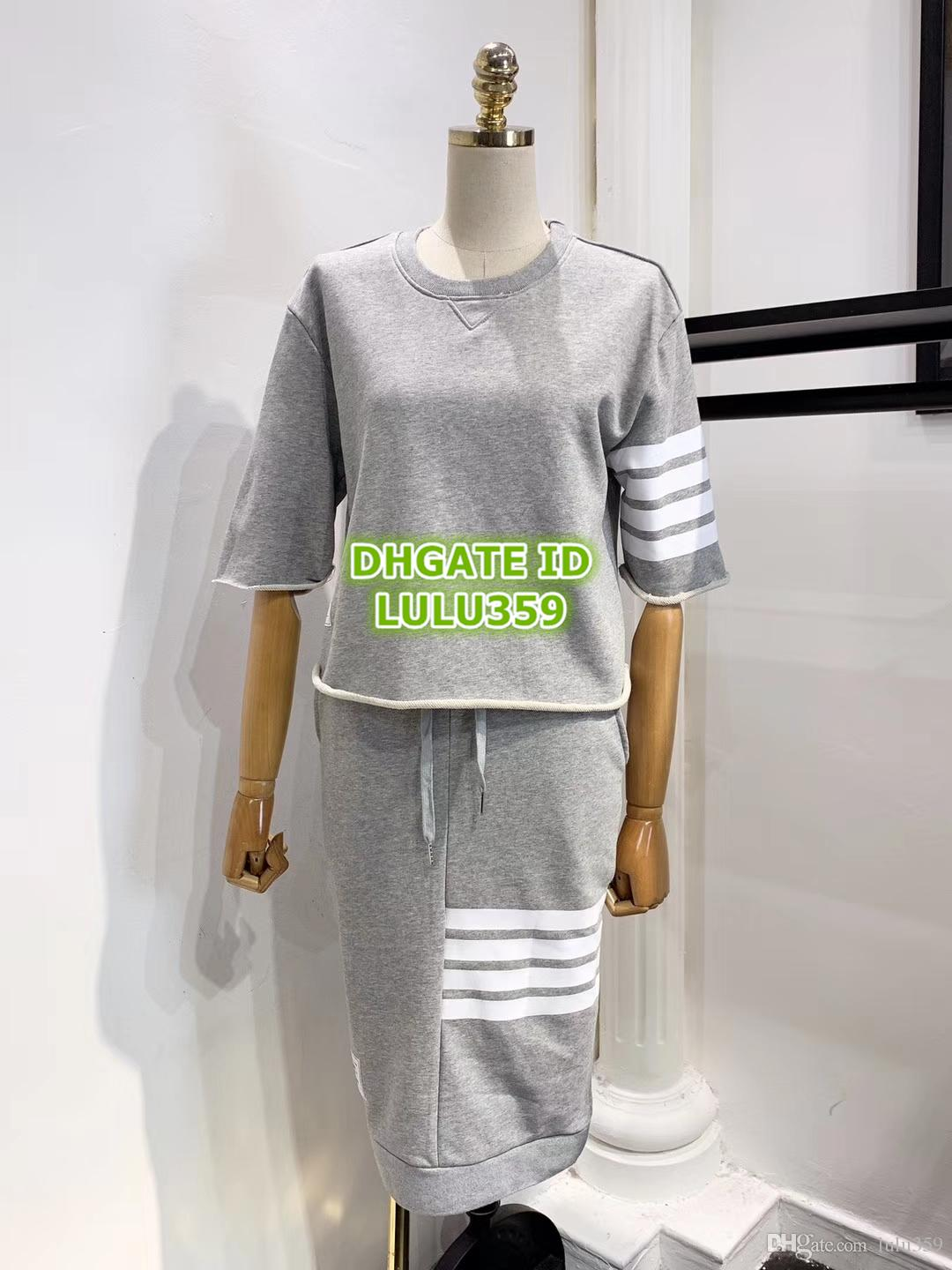 Women Letter Print Two Piece Dress Letters Tops Sweatshirt Shirt+Knee-Length Skirt Casual Dress Gray Sets 2019