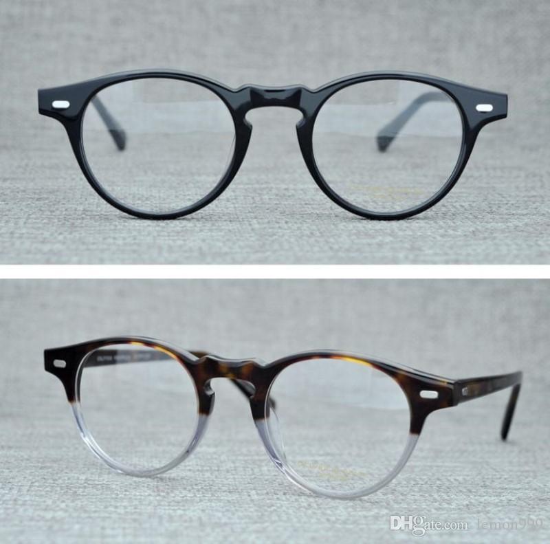 44dc65a2319 2019 Vintage Optical Glasses Frame Oliver Peoples Gregory Peck OV5186 Brand Eyeglasses  Frames For Women Men Round Myopia Eyeglasses With Case From Lemon999