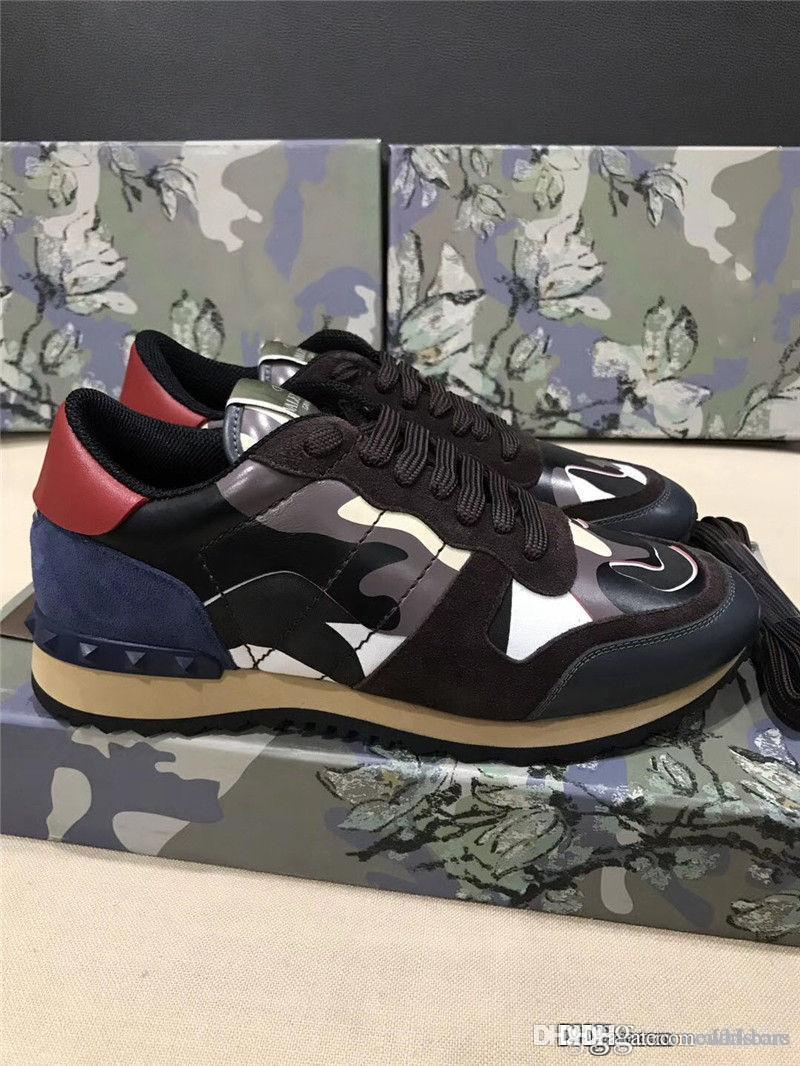3b804bb24dc 2019VALENTINO Garavani Rockrunner Camouflage Star Multicolored Trainer  Sneakers With Box Mens Sneakers High Heels From Darkbars, $120.61|  DHgate.Com
