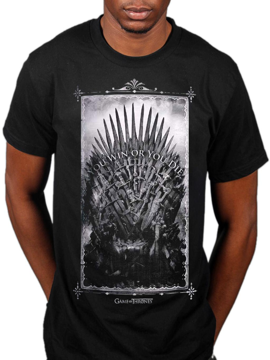 Official Game Of Thrones NEW Win Or Die Sword Throne Unisex T-Shirt Merch  Tv Hbo Funny free shipping Unisex Casual