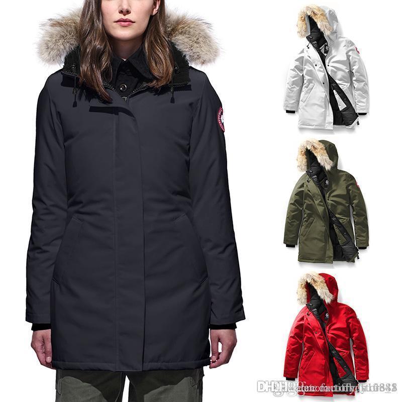 sélection premium e3f9b a5398 Winter Fourrure Manteau Parka Homme Winter Jassen Chaquetas Outerwear Big  Fur Hooded Fourrure Manteau Canada Down Jacket Coat Hiver Doudoune
