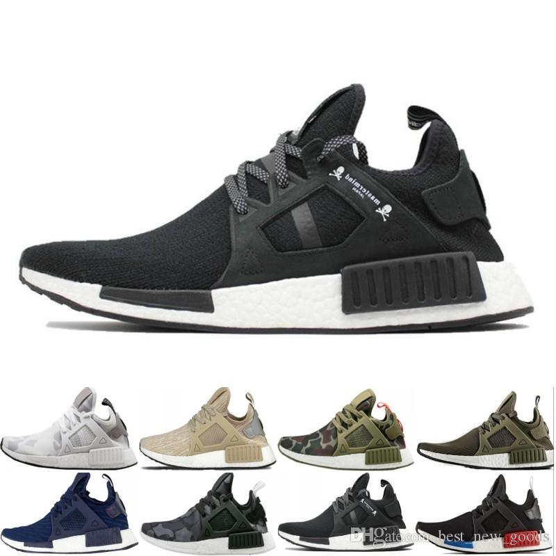 new style 28271 d5d9c New NMD XR1 Running Shoes OG Zebra Mastermind Japan stripe-black Olive  green Black White navy camo men women sports shoes size 36-45