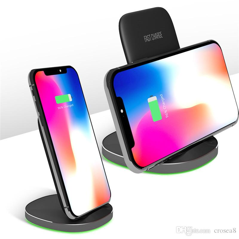 10W QI Wireless Charger Stand Dock per Iphone XS max 8 Plus Samsung note9 S10 Wireless Fast Charging Stand pad Chargeur Induzione
