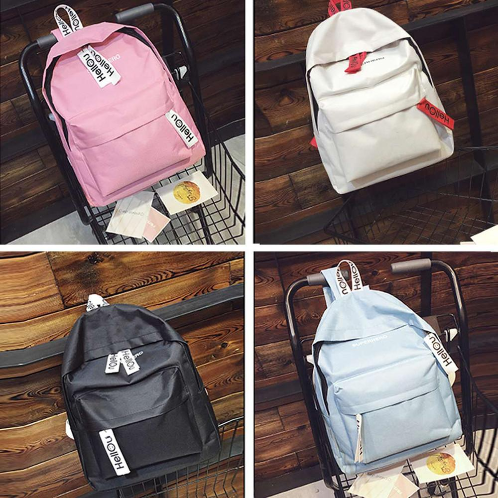 d26021f67086 Fashion men and women backpack school bag street couple bag travel hiking  solid color backpack Dropship Y502