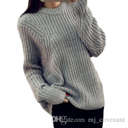2019 Winter O Neck Loose Casual Women Sweater Batwing Pullover