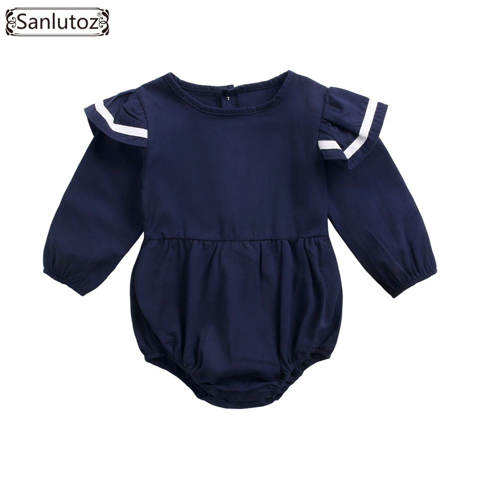 552f757ee743d wholesale Winter Cotton Baby Rompers Long Sleeveless Baby Clothes Fashion  Uniform Newborn Baby Girl