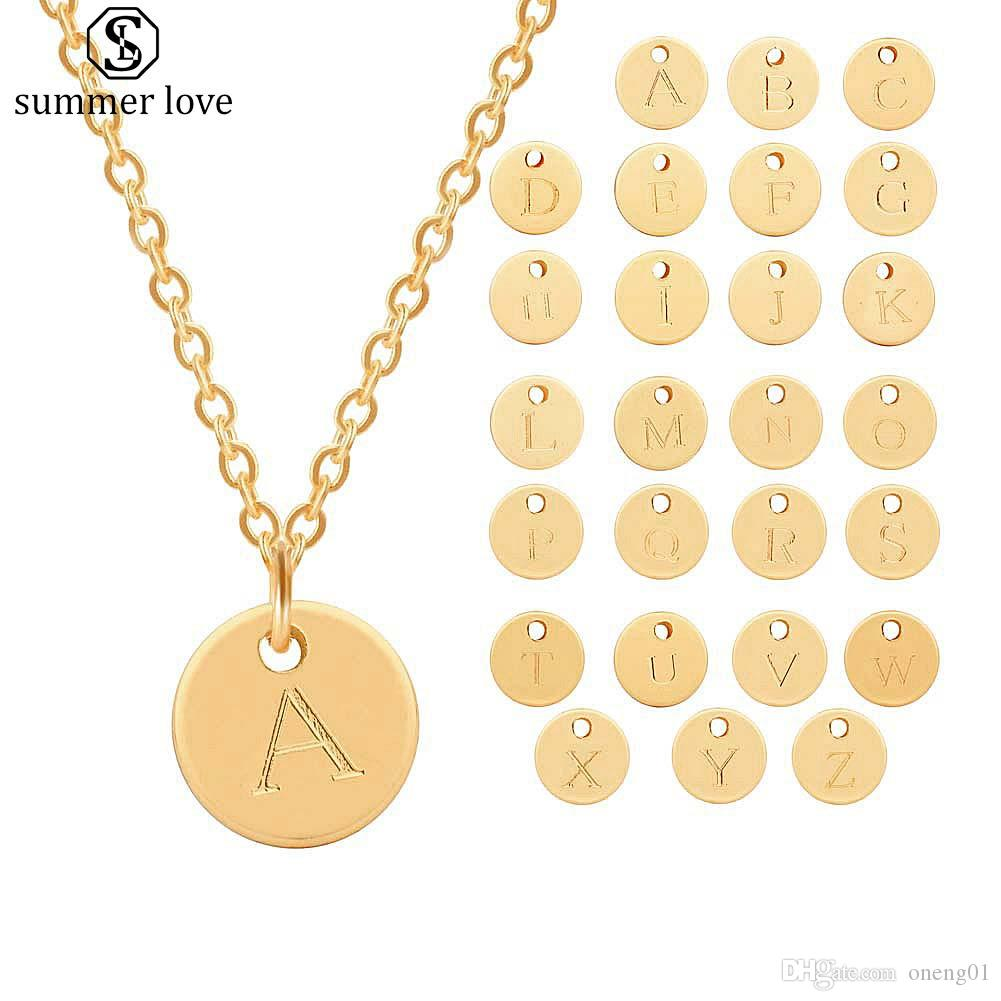 Wholesale Hot Selling 26 Initial Letters Necklaces For Women