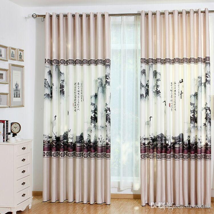 3D digital printing curtain fabric bedroom living room finished curtain  linen velvet
