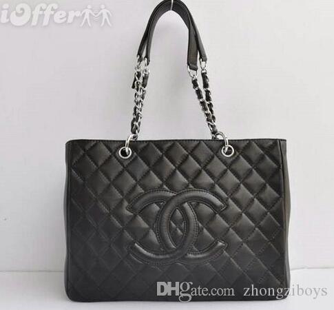 598ca95246 CHANEL Women S Top Handle Cross Body Handbag Middle Size Purse Durable Leather  Tote Bag M Brand Luxury Ladies Shoulder Bags Fashion Handbags Large Handbags  ...