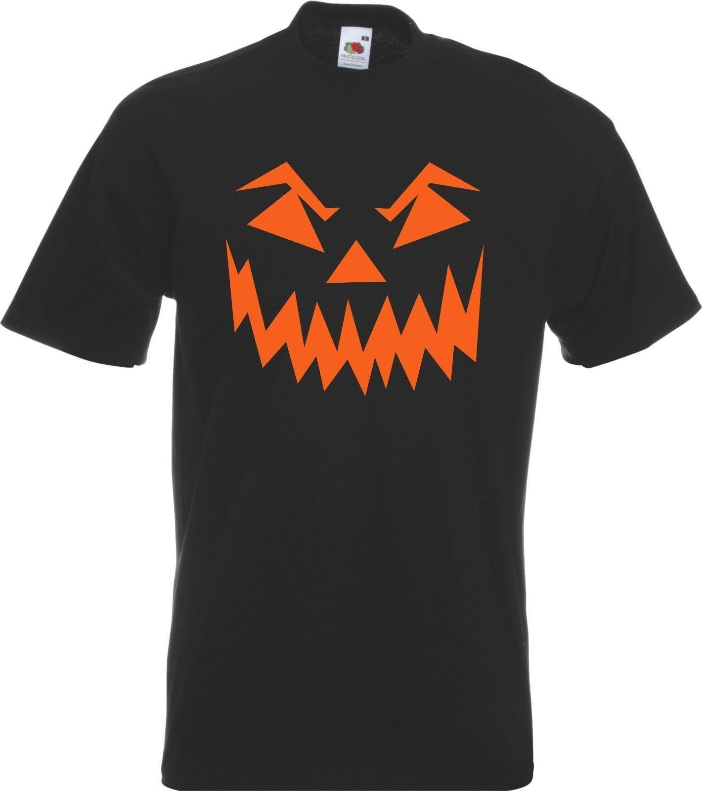 b63cb910de Scary Halloween T Shirt Pumpkin Eyes Horror Fancy Dress Costume Mens Cotton T  Shirt Round Neck Man'S O Neck Fashion Printed Best Tee Shirts T Shirts Cheap  ...