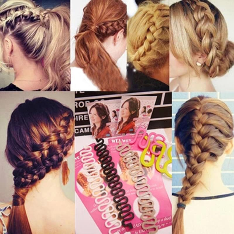 Fashion Women Lady Roller Twist Styling Clip Stick Bun Maker Braid Tool Locks Weaves Hair Accessories