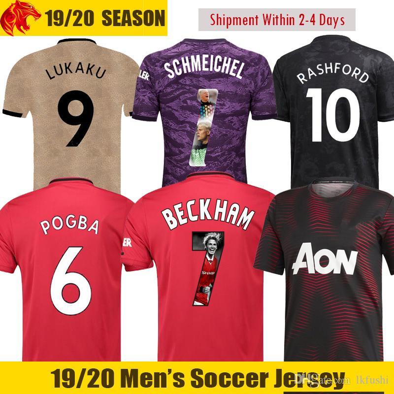 best website 3e78c 88269 19 20 Man utd POGBA Soccer Jerseys 2019 2020 ALEXIS Football Shirt RASHFORD  Soccer Shirt DE GEA Goalkeeper Jersey