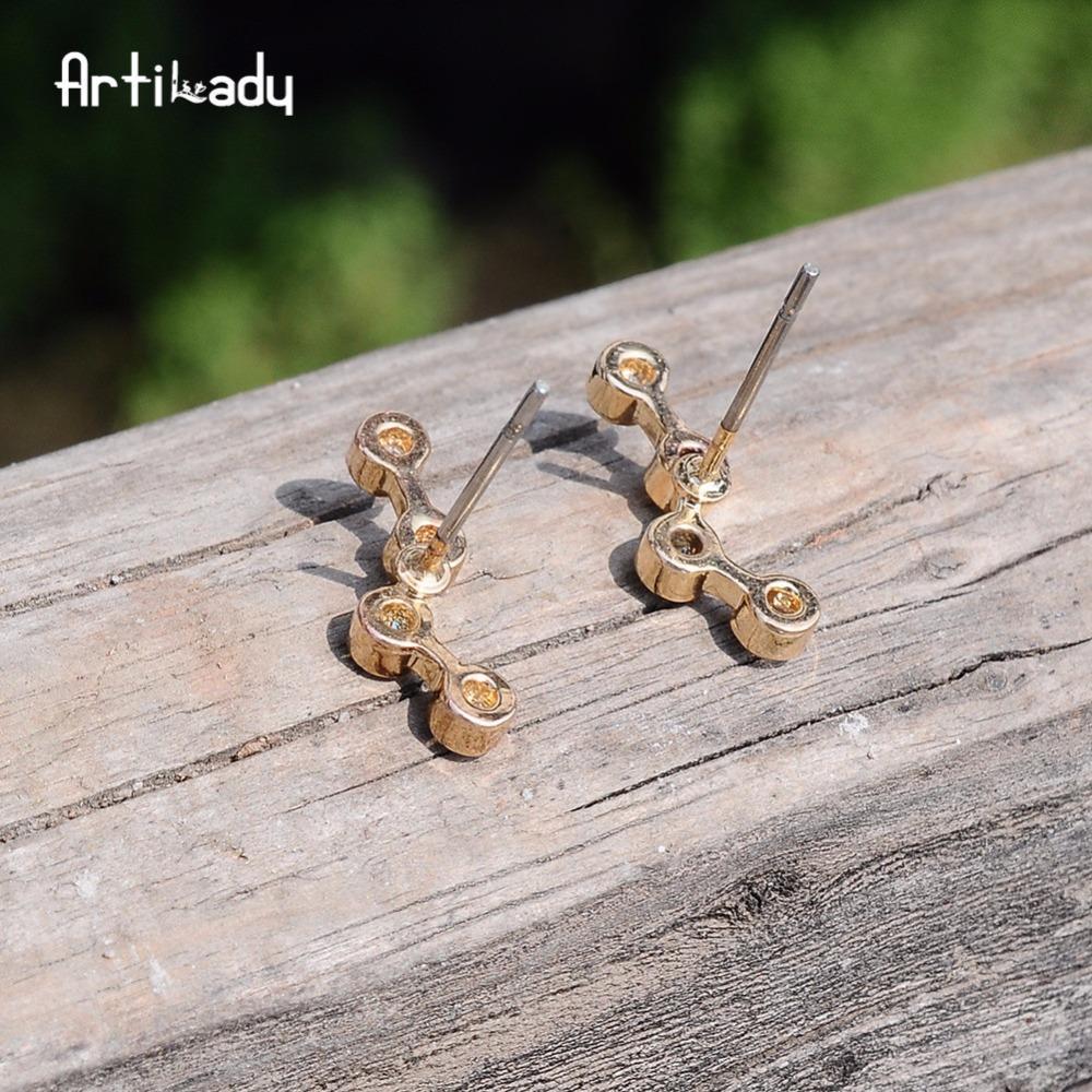 Artilady kulak manşet altın renk kadınlar için kulak tırmanıcı damızlık küpe takımyıldızı takı hediye