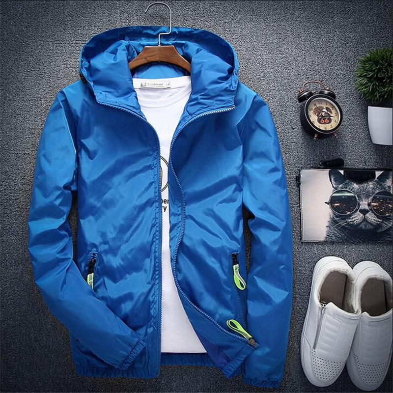 Plus Size 6xl 7xl New Spring Autumn Bomber Men Women Casual Solid Windbreaker Zipper Thin Hooded Coat Outwear Male Jacket C19041701