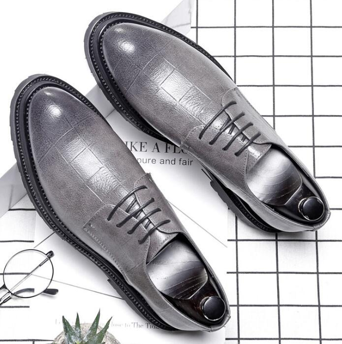 5b1e30df8b9e Hot Fashion Leather Shoes Men Dress Shoe Pointed Oxfords Shoes For Men Lace  Up Designer Luxury Men Formal Shoes Formal Shoes For Men Formal Shoes From  ...