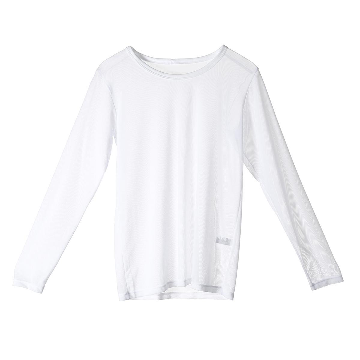 남성 얇은 긴 소매 T 셔츠 슬림핏 캐주얼 기본 티 O 목 메쉬 근육 셔츠