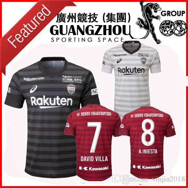 7c35e301f 2019 2019 Vissel Kobe Soccer Jerseys DAVID VILLA 7 A.INIESTA HOME RED THIRD  AWAY BLACK 19 20 AWAY JERSEY MITA FOOTBALL SHIRTS From Vinjin2018