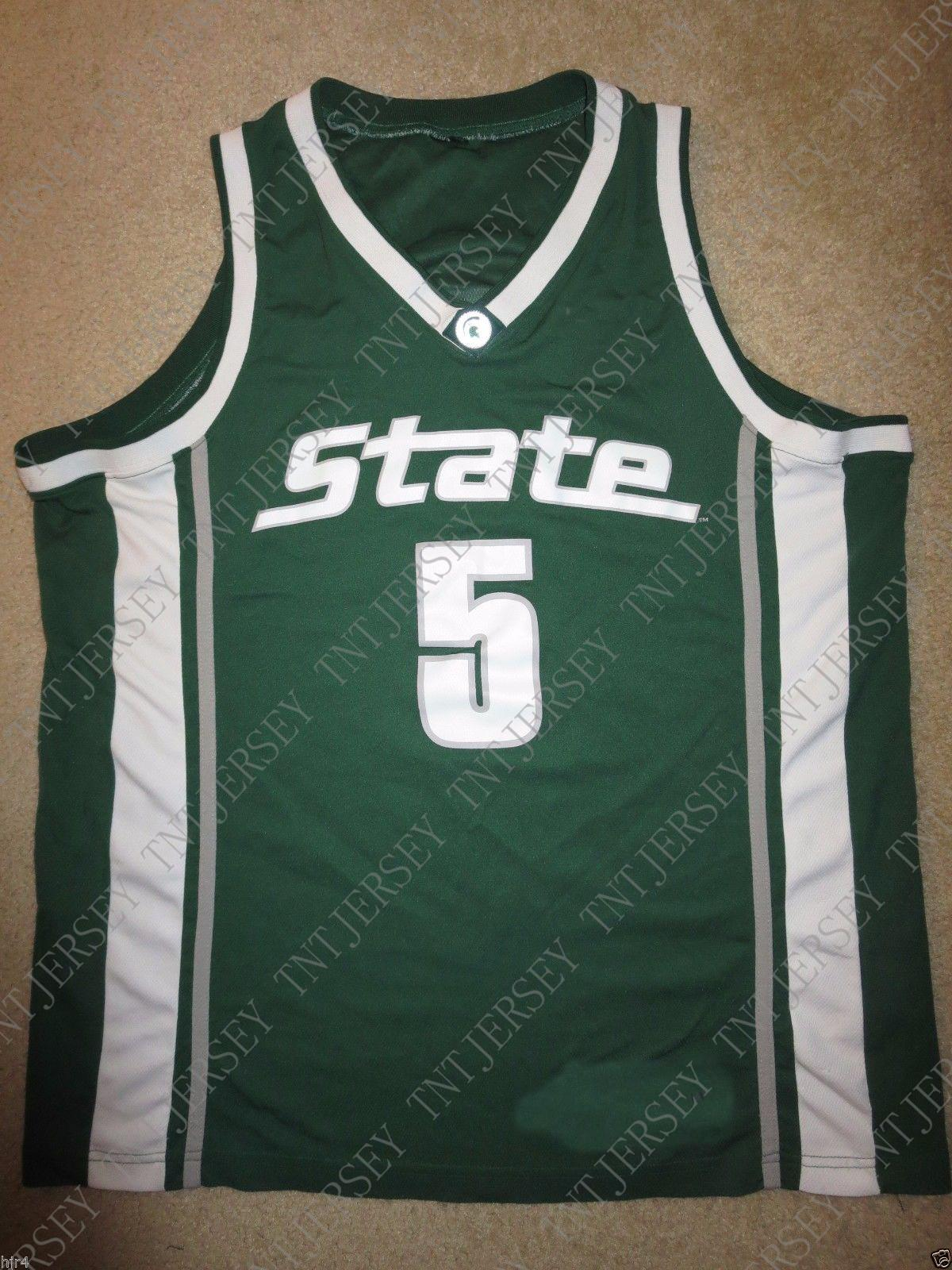 c2c87c87db75 2019 Cheap Custom Cassius Winston  5 Michigan State Spartans Hoops Jersey  Stitched Customize Any Number Name MEN WOMEN YOUTH XS 5XL From Tntjersey