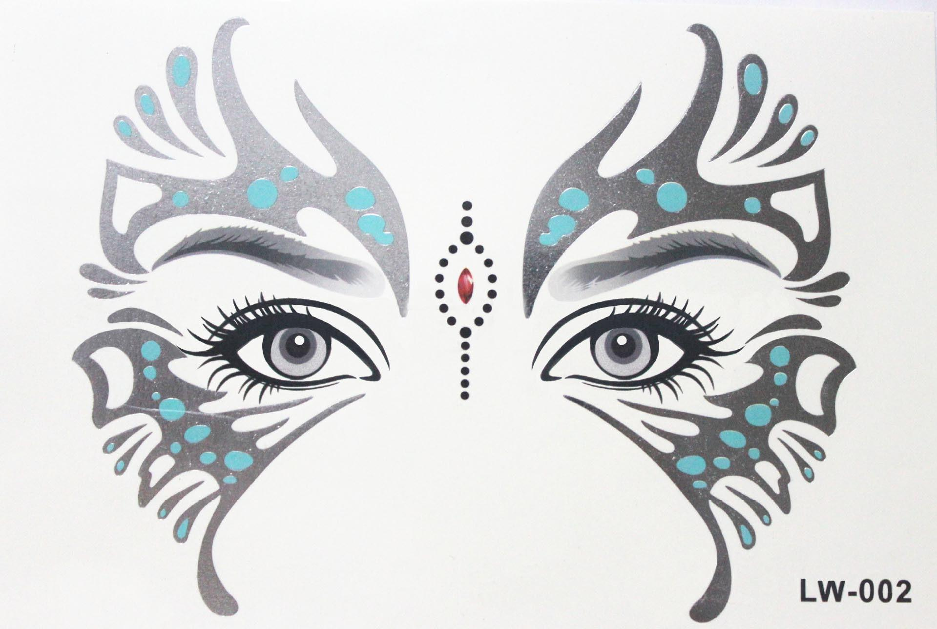 Body paint Masquerade golden flash tattoo paste face temporary tattoos