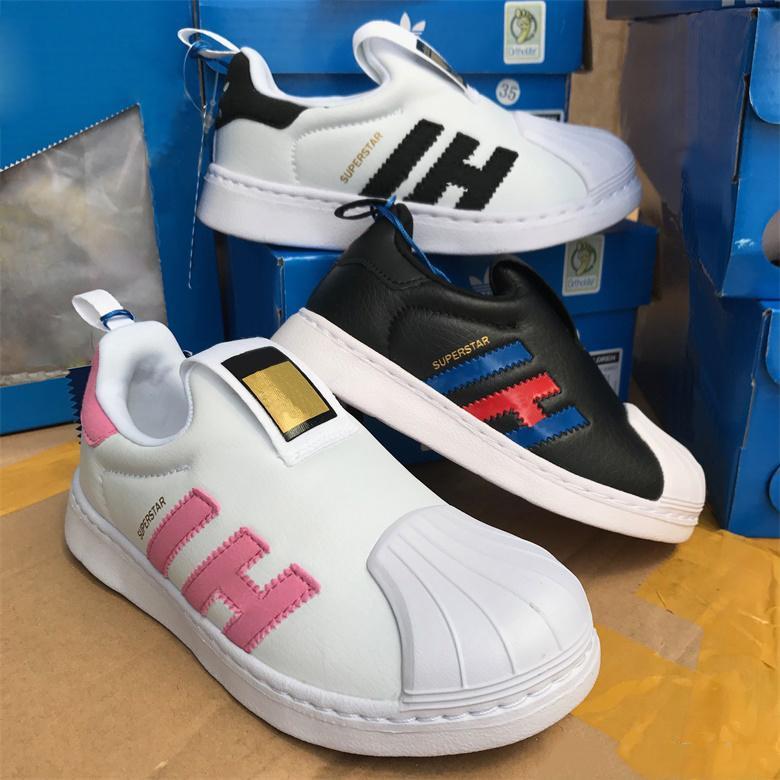 4e3783572 Compre 2 Marca Bebé Superstar Sneaker Niños Casual Shoes Baby First Walkers Niñas  Niños Zapatos Atléticos Zapatillas De Raya Roja Azul Regalo De Cumpleaños  ...