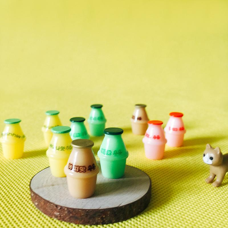 2019 New Yogurt Bottle Miniatures Dinnerware Cute Fairy Garden Gnome