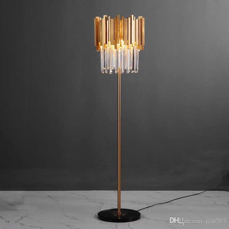 Lampade a sospensione per soggiorno moderne a LED Lampade in cristallo  nordico illuminazione apparecchi di illuminazione per la casa lampade da  terra ...