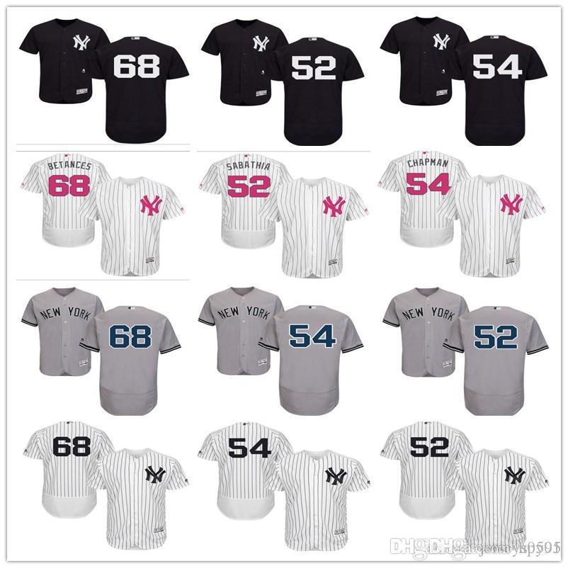 ddad84f092c 2018 Custom Men s Women Youth Majestic NY New York Yankees Jersey ...