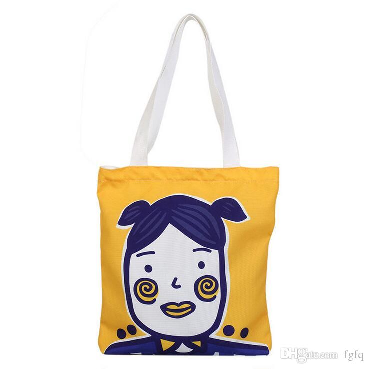 18147c9ca66f Cotton Shopping Bag Print Canvas Womens Graffiti Teenage Grocery ...