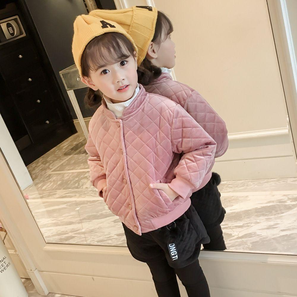 cf10afa6980 Children Clothing 2019 Korean Baby Girl Warm Velvet Coat Kids Cute Jacket  Toddler Girl Clothes Kids Down Jacket Toddler Outwear Winter Coats For Kids  Kids ...