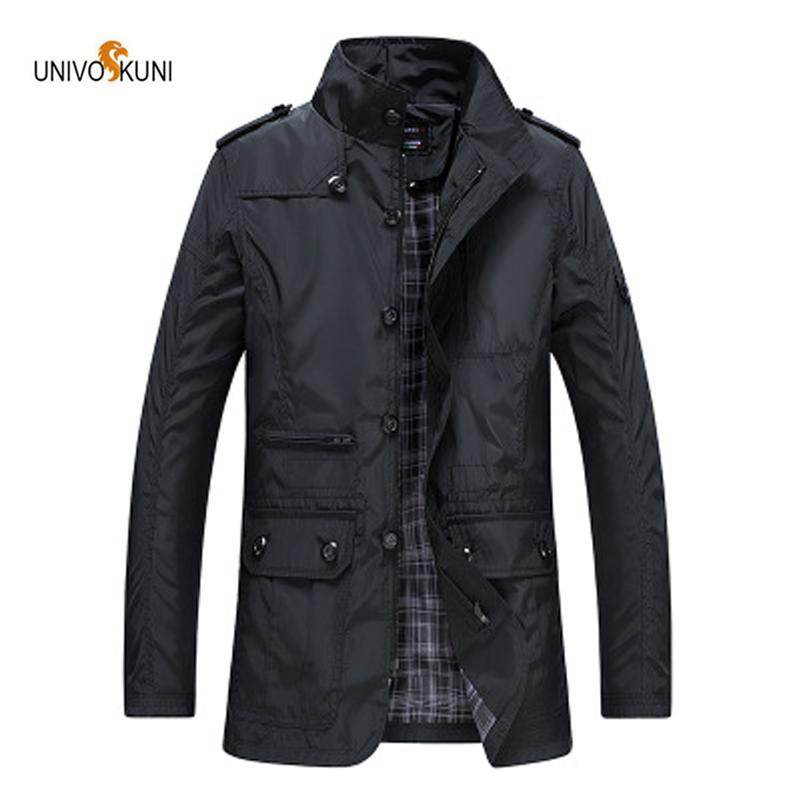 53d940be8 UNIVOS KUNI Men's plus fertilizer XL jacket men's casual jacket collar  waterproof Size M-5XL WYR74