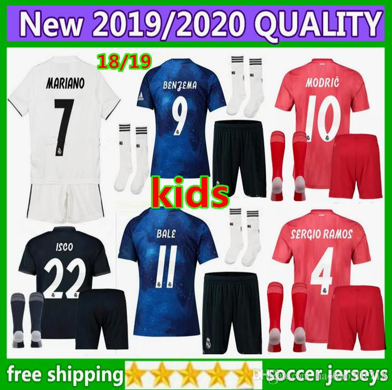 2019 Kids Kit +Sock 2018 Real Madrid MARIAN Home Away Soccer Jersey 2018  2019 CR7 BENZEMA SERGIO RAMOS MORATA ISCO ASENSIO BALE Football Shirt From  ... 9fda36759