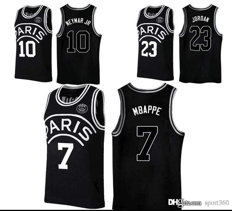 5e148abbc98 2019 New 2019 PSG Paris Jersey 23 Michael JD 10 NEYMAY JR 7 MBAPPE Paris  Basketball Jerseys Black Wholesale Fast Shipping From Sport360, $29.32 |  DHgate.Com