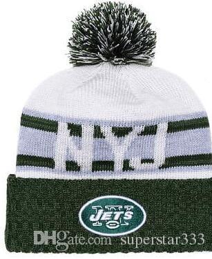 c4c6015d 2019 Winter New York Beanie NYJ Hats Men women Knitted Beanie Wool Hat Man  Sport Knit hat Bonnet Beanies Warm Baseball Cap