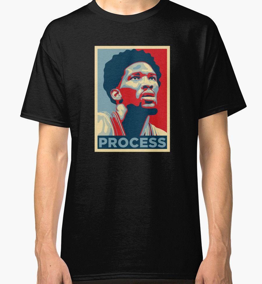 best website b2912 3948c Trust The Process Joel Embiid 76ers Men s Black Tees Shirt Clothing