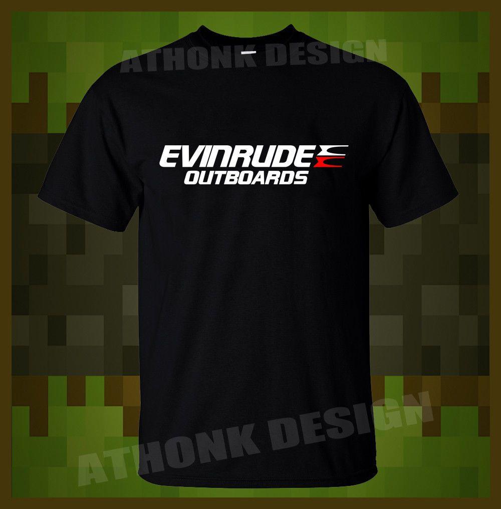 Evinrude Outboard Motors T-SHIRT Print Short Sleeve Men Top Novelty T  Shirts Men S Brand Clothing
