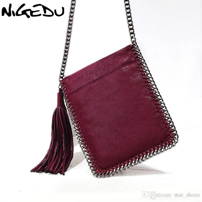 684a5f9fa1 NIGEDU Brand Long Tassel Crossbody Bag For Women Messenger Bag Braided  Chain Shoulder Small Women Phone Ladies Handbags  93384 Purses On Sale Hobo  Purses ...