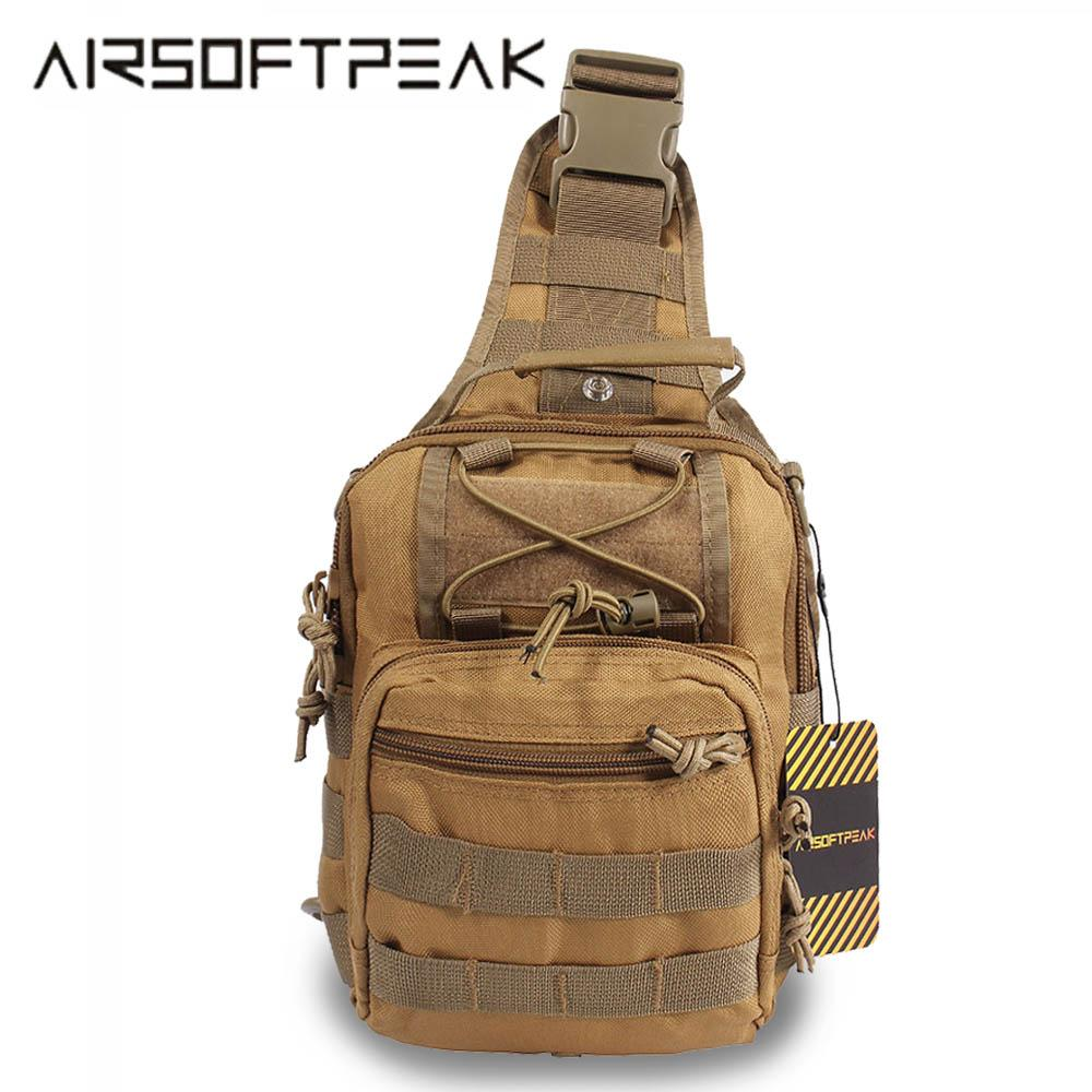 Sports & Entertainment Solid Color Outdoor Tactical Hiking Bag Military Army Shoudler Bag Water Molle Camping Bags Chest Body Sling Single Shoulder Bag