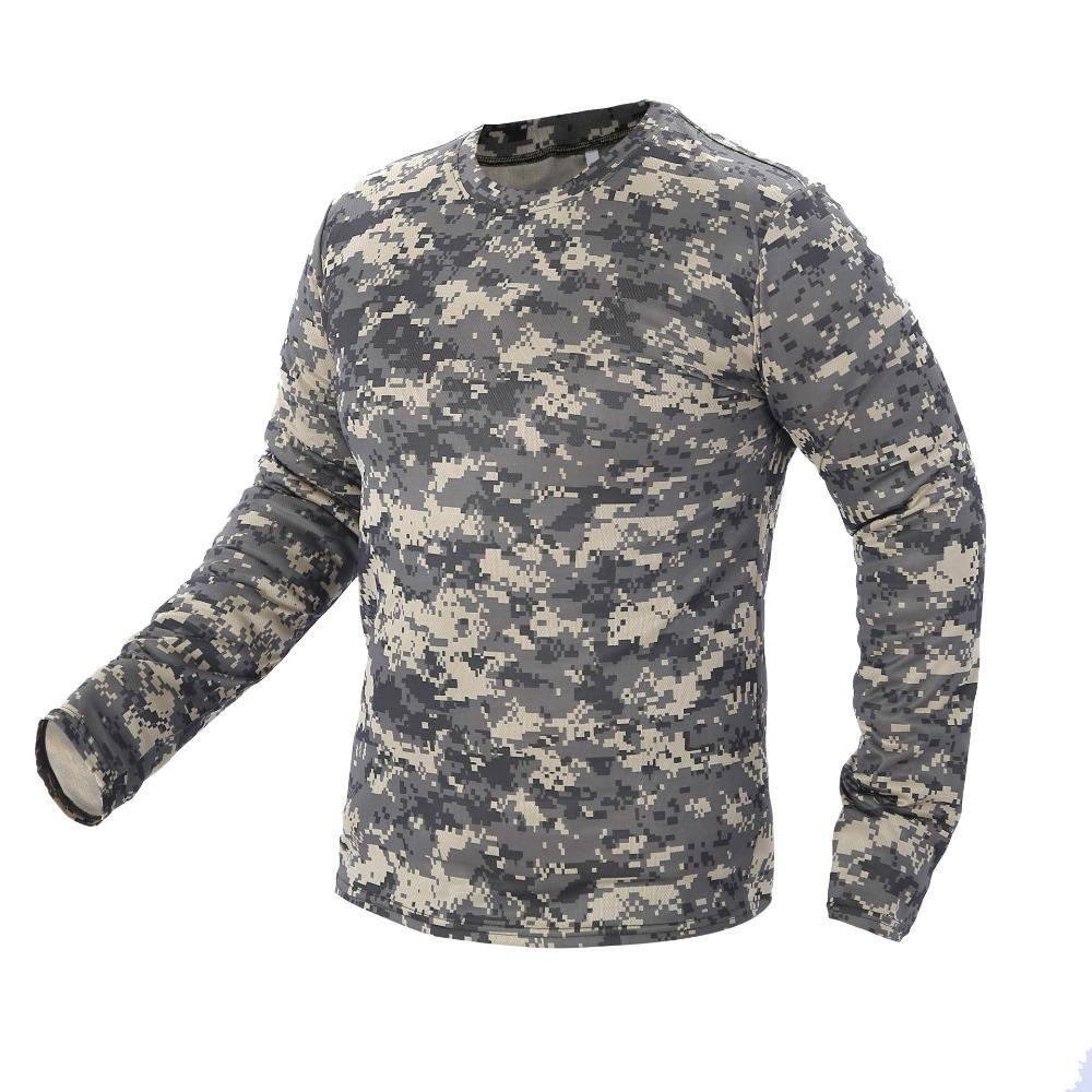 41ecb824aca0a 2018 New Tactical Camouflage T Shirt Male Breathable Quick Dry US Army  Combat Full Sleeve Outwear T-shirt for Men Shirt Quick Dry Shirt Shirt  Shirt T Online ...
